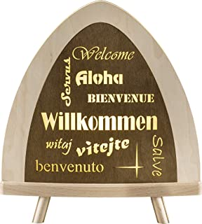 "Weigla Lampadaire LED ""Willkommen"" garanti dans les monts Métallifères"