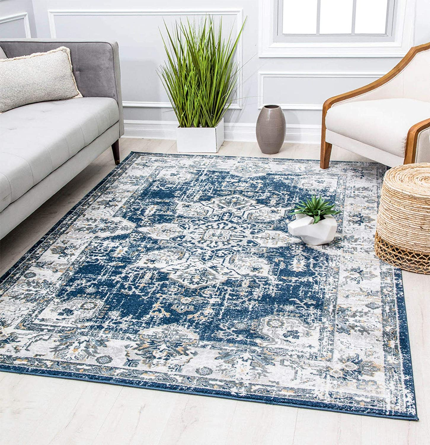 Rugs Max 89% OFF America AL30A Low price Distressed Are Transitional Medallion Vintage