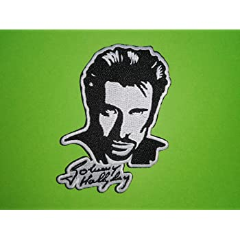 broder thermocollant johnny halliday 9//6cm écusson jh la légend patch
