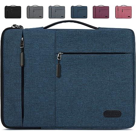 Lubardy Funda Portátil Compatible 13-14 Pulgadas Laptop Impermeable Maletín para Funda Ordenador Portátil Protectora Prueba Golpes Compatible Macbook Air/Pro, HP, DELL, Samsung, etc Azul Oscuro