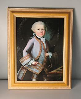 BiblioArt Series 「モーツァルトの肖像画(6歳)」 額装品-4
