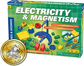 Thames & Kosmos Electricity & Magnetism Science Kit   62 Safe Experiments Investigating Magnetic Fields & Forces for Ages 8+   Assemble Electric Circuits with Easy Snap-Together Blocks