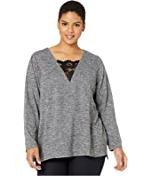 Plus Size Sandie Long Sleeve Knit Pullover