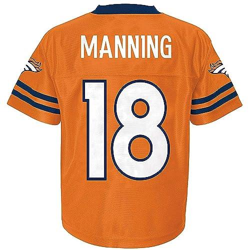 e9457f023d1 Peyton Manning Denver Broncos Orange Youth NFL Player Home Jersey