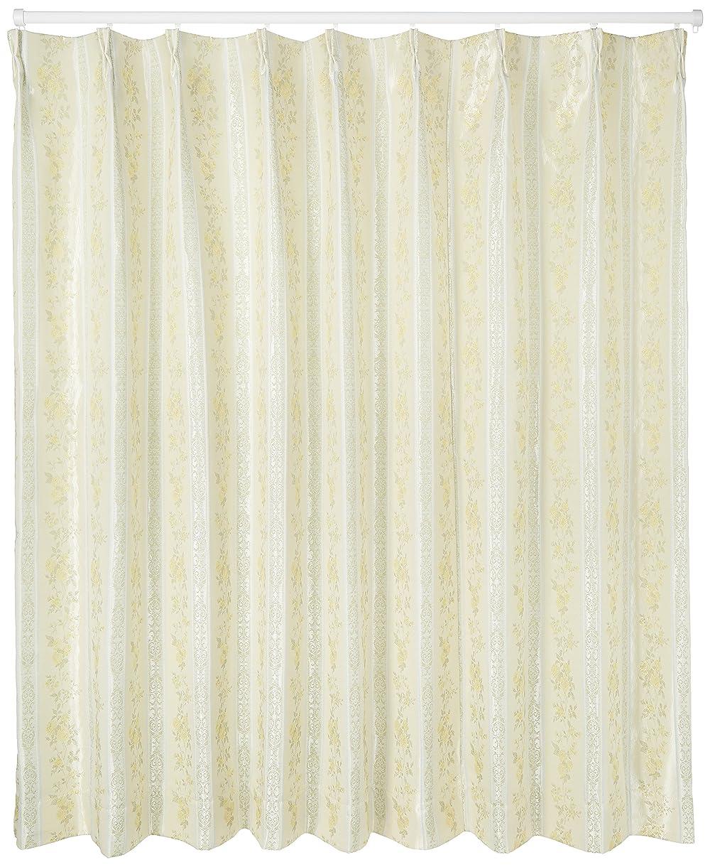 やけど類推爵ユニベール 遮光ドレープカーテン イエロー 幅200×丈178cm 1枚 HAZ-D0023
