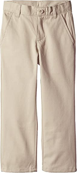 Nautica Kids - Slim Flat Front Twill Double Knee Pant (Little Kids/Big Kids)