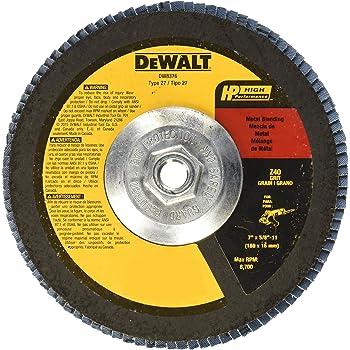 DEWALT DW8341 7-Inch by 5//8-Inch-11 24g Type 29 HP Flap Disc