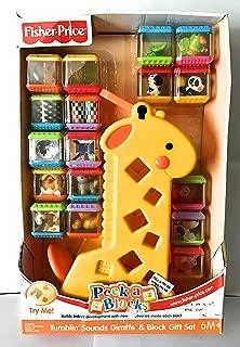 Peek-a-Blocks Tumblin Sounds Giraffe and Block Set