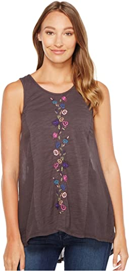 Mod-o-doc - Slub Jersey Embroidered Tunic Tank Top