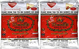 The Original Thai Iced Tea Mix (TWO bags) ~ Number One Brand Imported From Thailand! 2 x 400g Bags Great for Restaurants That Want to Serve Authentic and Thai Iced Teas. by Number One