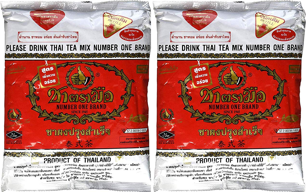 The Original Thai Iced Tea Mix TWO Bags Number One Brand Imported From Thailand 2 X 400g Bags Great For Restaurants That Want To Serve Authentic And Thai Iced Teas