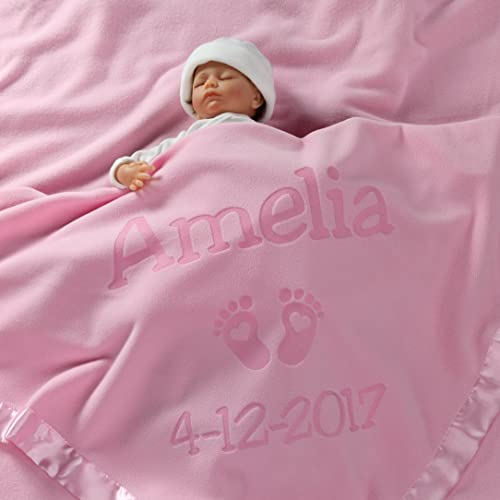 personalised embroidered baby girl gift,christening boy blanket name