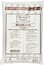 Heartland Food Products Signature Recipe Belgian Waffle Mix, Blueberry, 5 Pound