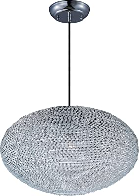 Maxim 12191PC, Twisp Round Pendant, 1 Light, Polished Chrome