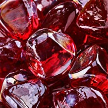 Ruby - Fire Glass Diamonds for Indoor and Outdoor Fire Pits or Fireplaces   10 Pounds   1 Inch