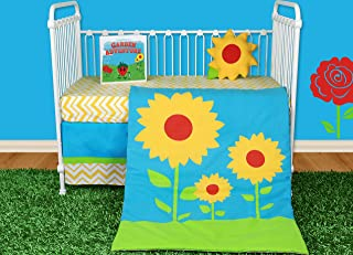 Snuggleberry Baby Sunflower Love 5 Piece Crib Bedding Set with Storybook