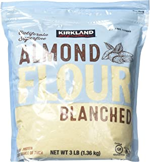 Kirkland Signature Almond Flour Blanched California Superfine, 3 Pound (Pack of 1)