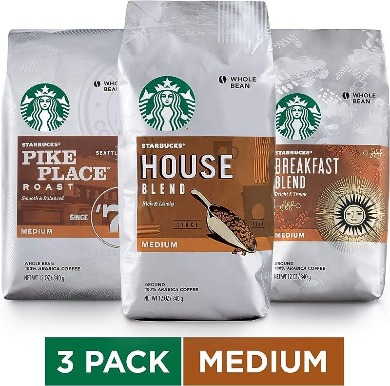 Starbucks Medium Roast Whole Bean Coffee Variety Pack Three 12 Oz Bags