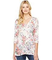Nally & Millie - Printed V-Neck Floral Tunic