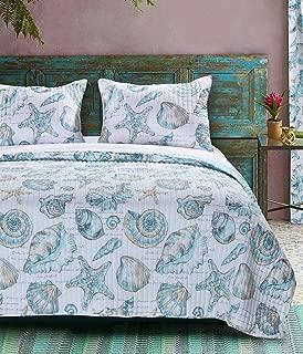 Barefoot Bungalow Cruz Coastal Quilt Set, Twin, Multicolor