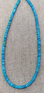 weekbeads 4-8mm Dark Blue Turquoise rondelle Abacus Heishi Turquoise Stone Beads Turqulise Necklace Full Strand 16inch (6-7mm)