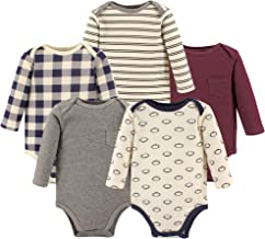 Hudson Baby Unisex Baby Long Sleeve Cotton Bodysuits