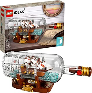 LEGO Ideas Ship in a Bottle 21313 Expert Building Kit,...