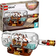 LEGO Ideas Ship in a Bottle 21313 Expert Building Kit, Snap Together Model Ship, Collectible...