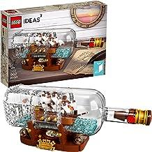 LEGO Ideas Ship in a Bottle 21313 Expert Building Kit, Snap Together Model Ship,..