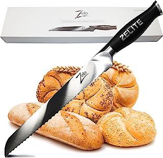 Zelite Infinity, Cuchillo Pan 25 cm- Utensilios Cocina Serie Comfort-Pro – Acero Inoxidable Alemán de Alto Contenido en Carbono – Cuchillos Cocina Afilado de Navaja, Supercómodo
