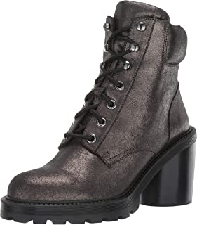 Marc Jacobs Women's Crosby Hiking Boot Ankle, Dark Silver, 36 M EU (6 US)