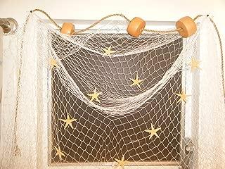 Fishing Net 20 X 8 Ft Fishing Net Nautical Window Treatment Floats, Starfish, Rope, Decor