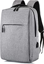 Laptop Backpack, Slim Computer School Bag, Business Case with USB Charging Port, Fits 15.6 Inch Laptop Bookbag Gray Travel Backpack, for Men Women Boys Girls Students for MacBook, Surface, Ipad etc.