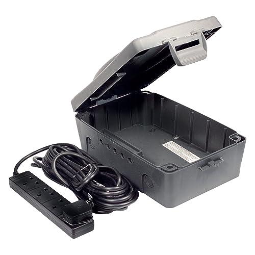 4e34c1fe7d8d Masterplug WBXBFG10B-MP WBXBFG10B Outdoor IP54 Weatherproof Box with 13amp  4 Socket 10m Extension Lead