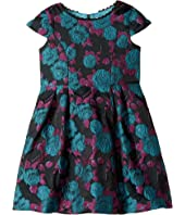 Us Angels - Cap Sleeve Princess Bodice with A Full Skirt and Flower Dress (Toddler/Little Kids)