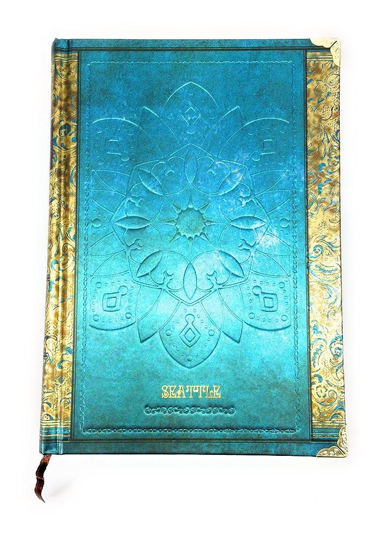 フェッチやさしいマチュピチュ【Deli】 アンティーク ヨーロピアン風 洋書のような 美しい ノート B6サイズ (ブルー) [並行輸入品]
