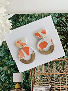 clay christmas earrings
