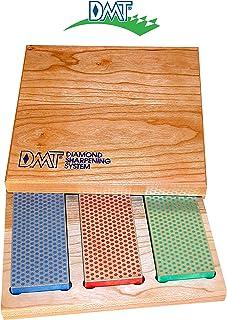 DMT W6EFC Tres modelos de diamante Whetstone en caja de madera dura (6 pulgadas), multicolor