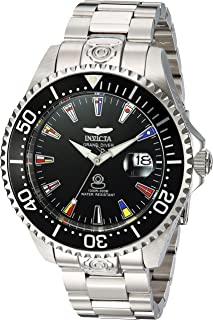 Invicta Men's Pro Diver Automatic-self-Wind Watch with Stainless-Steel Strap, Silver, 21.5 (Model: 21323