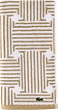 Lacoste Geo Compass Towels, 16x30, Sand
