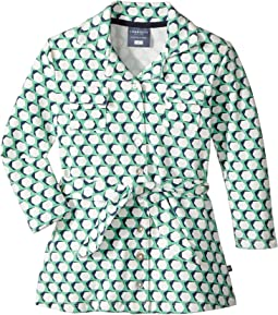 Toobydoo - Geo Green Belted Shirtdress (Toddler/Little Kids/Big Kids)