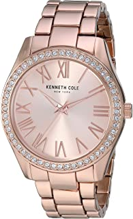 Kenneth Cole Womens Quartz Watch, Analog Display and Stainless Steel Strap KC50664002
