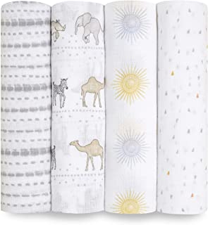 aden + anais Essentials Swaddle Blanket, Muslin Blankets for Girls & Boys, Baby Receiving Swaddles, Newborn Gifts, Infant ...