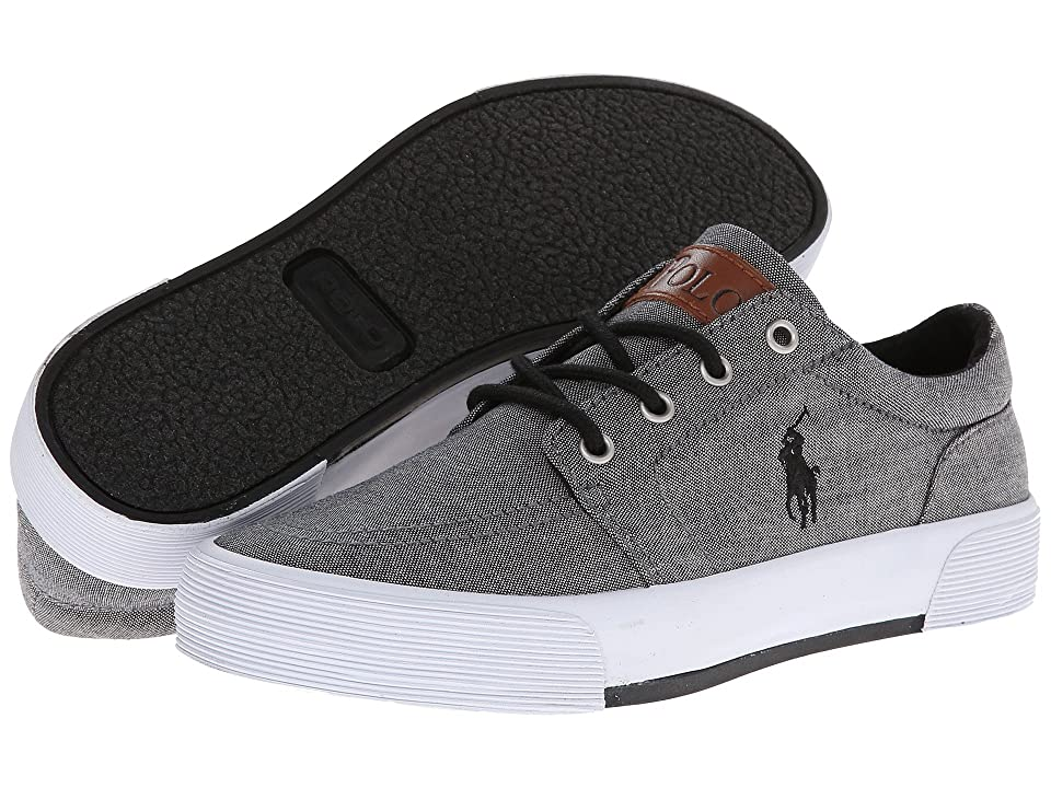 Polo Ralph Lauren Kids Faxon II (Big Kid) (Dark Grey Chambray) Boys Shoes