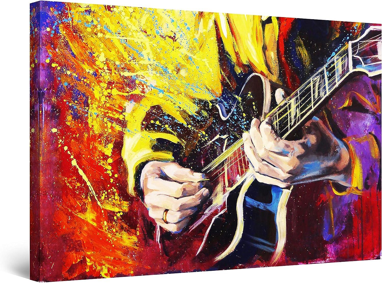 Washington Mall Startonight Mesa Mall Canvas Wall Art Decor and Splash Color Music Guitar