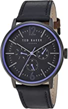 Ted Baker Men's 'JASON' Quartz Stainless Steel and Leather Casual Watch, Color:Black (Model: TE15066007)