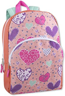 "Trail maker Kids Character Backpacks for Boys & Girls (15"") with Adjustable, Padded Back Straps"