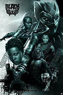 Trends International MCU - Black Panther - Group Wall Poster, 22.375