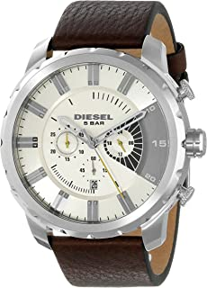 Men's DZ4346 Stronghold Stainless Steel Brown Leather Watch