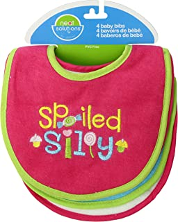 Neat Solutions Attitude Sayings Bib Set, Girl, 4-Count